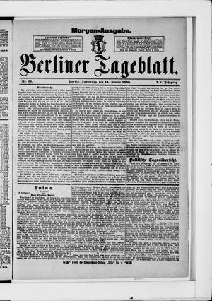 Berliner Tageblatt und Handels-Zeitung vom 14.01.1886