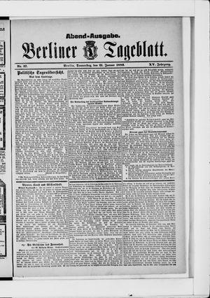 Berliner Tageblatt und Handels-Zeitung vom 21.01.1886