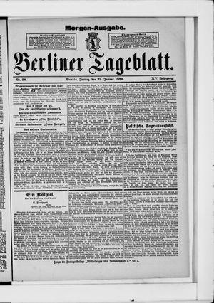 Berliner Tageblatt und Handels-Zeitung vom 22.01.1886