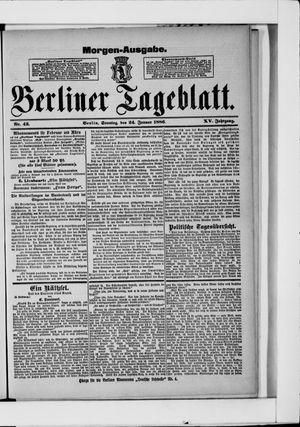 Berliner Tageblatt und Handels-Zeitung vom 24.01.1886
