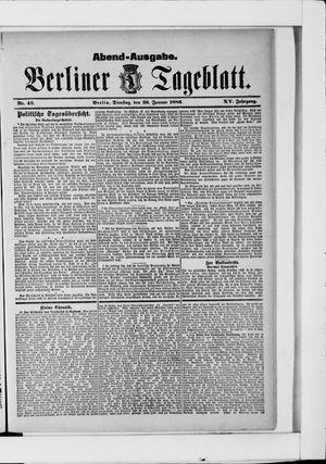 Berliner Tageblatt und Handels-Zeitung vom 26.01.1886