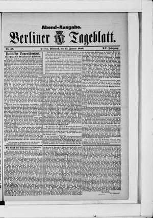 Berliner Tageblatt und Handels-Zeitung vom 27.01.1886