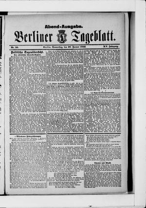 Berliner Tageblatt und Handels-Zeitung vom 28.01.1886