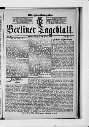 Berliner Tageblatt und Handels-Zeitung on Jan 29, 1886