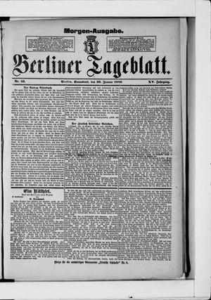 Berliner Tageblatt und Handels-Zeitung vom 30.01.1886