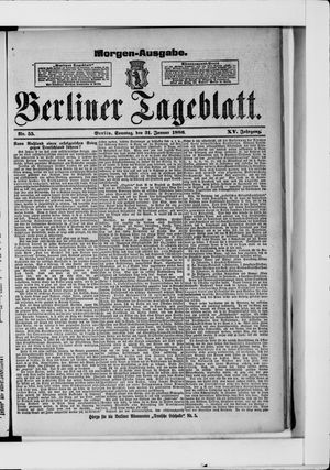 Berliner Tageblatt und Handels-Zeitung on Jan 31, 1886