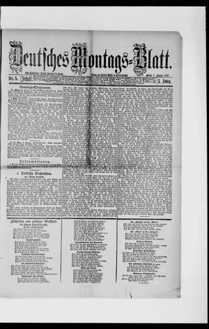 Berliner Tageblatt und Handels-Zeitung vom 01.02.1886