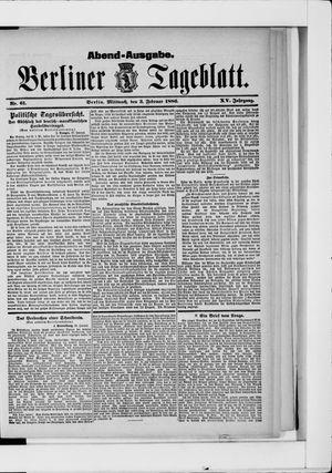 Berliner Tageblatt und Handels-Zeitung vom 03.02.1886