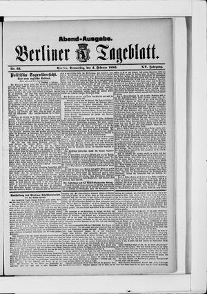Berliner Tageblatt und Handels-Zeitung vom 04.02.1886