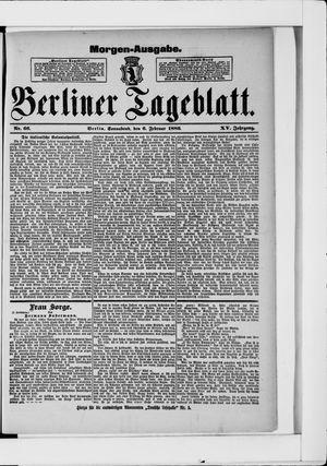 Berliner Tageblatt und Handels-Zeitung vom 06.02.1886