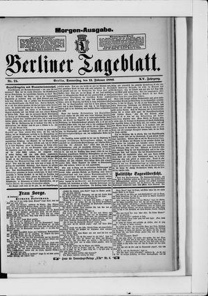 Berliner Tageblatt und Handels-Zeitung on Feb 11, 1886