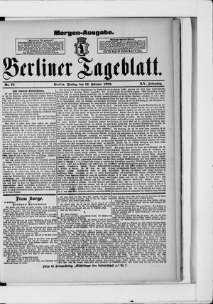 Berliner Tageblatt und Handels-Zeitung vom 12.02.1886