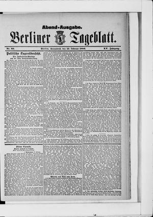 Berliner Tageblatt und Handels-Zeitung vom 13.02.1886
