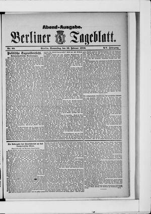 Berliner Tageblatt und Handels-Zeitung vom 18.02.1886