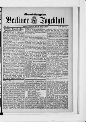 Berliner Tageblatt und Handels-Zeitung vom 20.02.1886