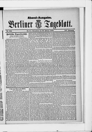 Berliner Tageblatt und Handels-Zeitung vom 27.02.1886