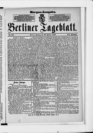 Berliner Tageblatt und Handels-Zeitung vom 28.02.1886