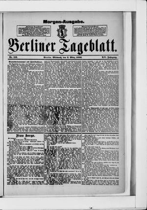 Berliner Tageblatt und Handels-Zeitung vom 03.03.1886