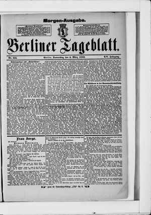 Berliner Tageblatt und Handels-Zeitung on Mar 4, 1886