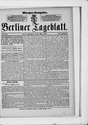Berliner Tageblatt und Handels-Zeitung vom 20.03.1886