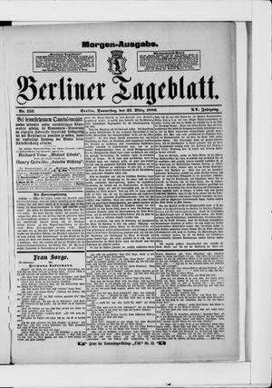 Berliner Tageblatt und Handels-Zeitung on Mar 25, 1886