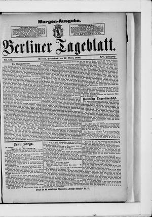 Berliner Tageblatt und Handels-Zeitung vom 27.03.1886