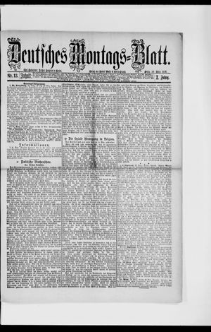 Berliner Tageblatt und Handels-Zeitung vom 29.03.1886