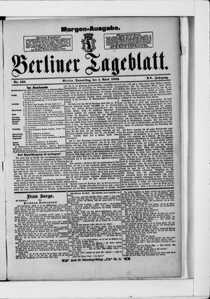 Berliner Tageblatt und Handels-Zeitung vom 01.04.1886