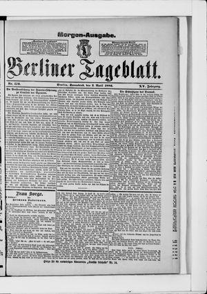 Berliner Tageblatt und Handels-Zeitung vom 03.04.1886