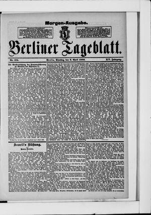 Berliner Tageblatt und Handels-Zeitung vom 06.04.1886