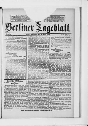 Berliner Tageblatt und Handels-Zeitung vom 10.04.1886