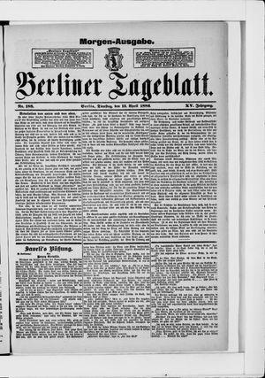 Berliner Tageblatt und Handels-Zeitung vom 13.04.1886