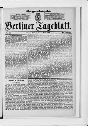 Berliner Tageblatt und Handels-Zeitung on Apr 14, 1886