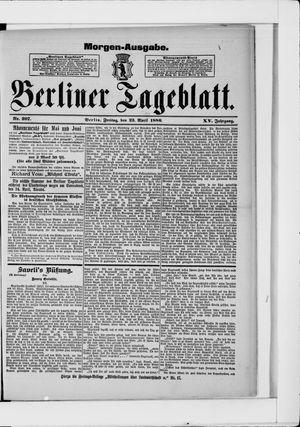 Berliner Tageblatt und Handels-Zeitung vom 23.04.1886