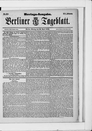 Berliner Tageblatt und Handels-Zeitung vom 26.04.1886