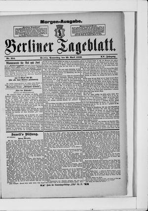 Berliner Tageblatt und Handels-Zeitung vom 29.04.1886