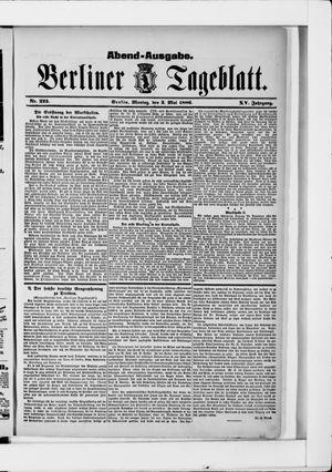 Berliner Tageblatt und Handels-Zeitung vom 03.05.1886