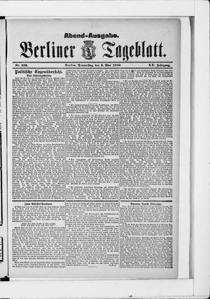 Berliner Tageblatt und Handels-Zeitung vom 06.05.1886