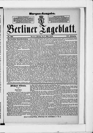 Berliner Tageblatt und Handels-Zeitung vom 07.05.1886