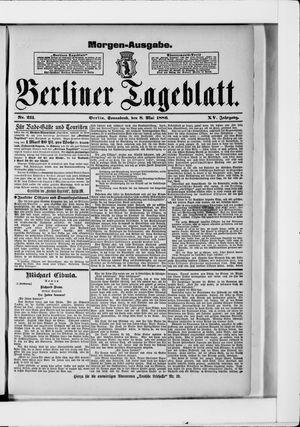 Berliner Tageblatt und Handels-Zeitung vom 08.05.1886