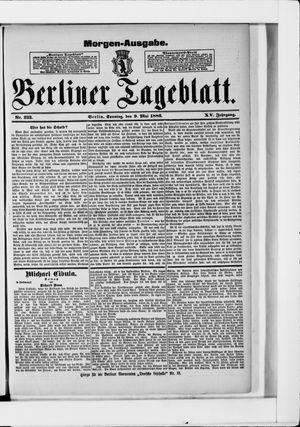 Berliner Tageblatt und Handels-Zeitung vom 09.05.1886