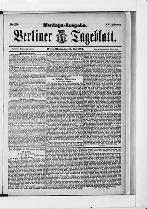 Berliner Tageblatt und Handels-Zeitung vom 10.05.1886