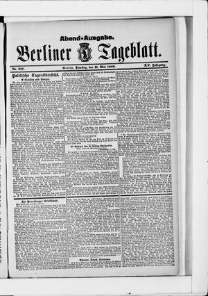 Berliner Tageblatt und Handels-Zeitung vom 11.05.1886