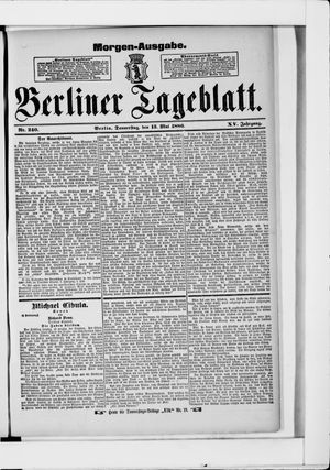 Berliner Tageblatt und Handels-Zeitung vom 13.05.1886