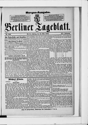 Berliner Tageblatt und Handels-Zeitung vom 14.05.1886