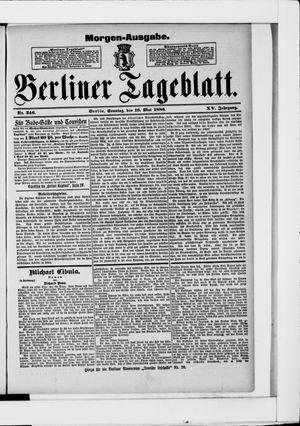 Berliner Tageblatt und Handels-Zeitung vom 16.05.1886