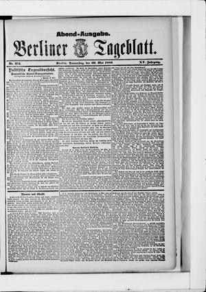 Berliner Tageblatt und Handels-Zeitung vom 20.05.1886