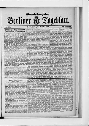 Berliner Tageblatt und Handels-Zeitung vom 21.05.1886