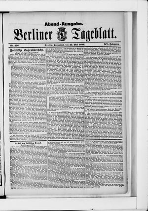 Berliner Tageblatt und Handels-Zeitung on May 22, 1886