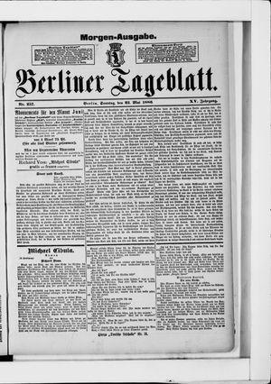 Berliner Tageblatt und Handels-Zeitung vom 23.05.1886